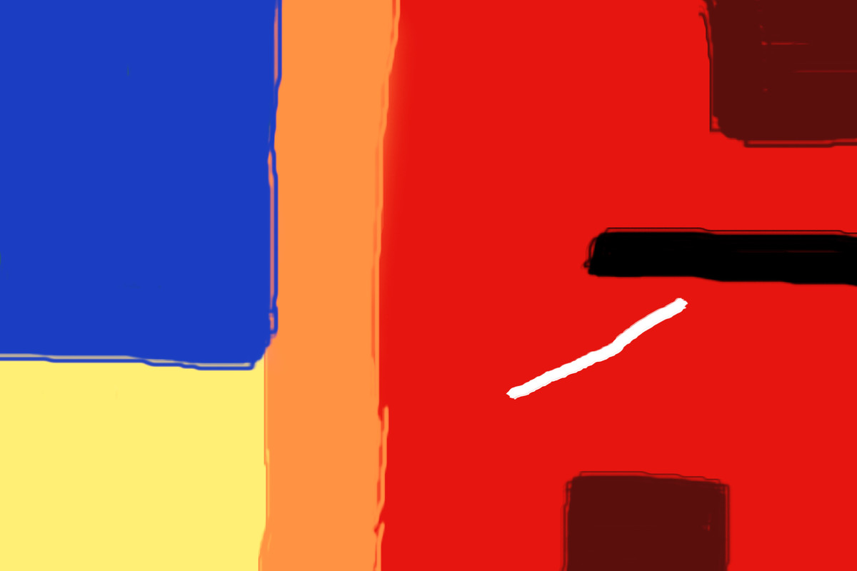 Music of Colour-02 by Ravi Shekhar, Digital Digital Art, Digital Print on Canvas, Red color