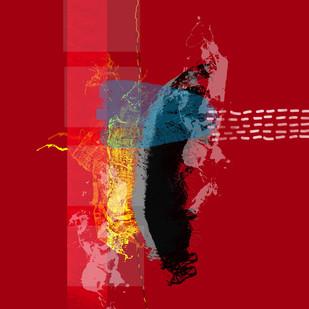 Music of Colour-08 by Ravi Shekhar, Digital Digital Art, Digital Print on Canvas, Red color
