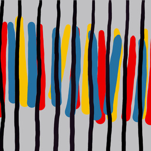 Music of Colour-10 by Ravi Shekhar, Digital Digital Art, Digital Print on Canvas, Gray color