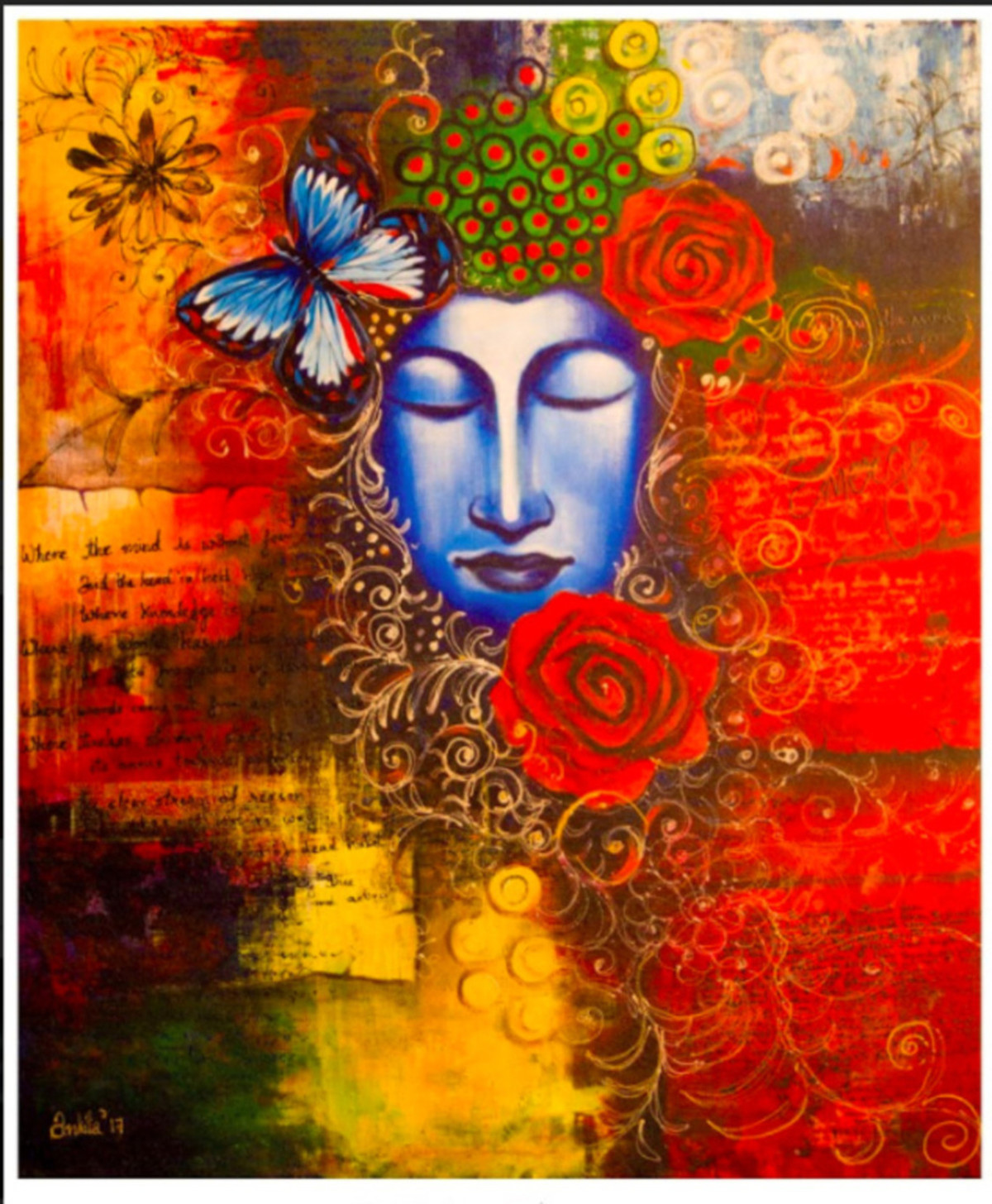 Emerge by Ankita Sancheti, Expressionism Painting, Acrylic & Ink on Canvas, Brown color