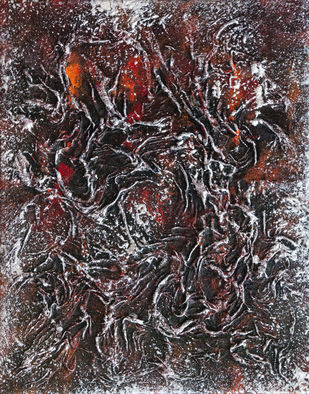 Metamorphosis_03 by Smita Biswas, Abstract Painting, Acrylic on Canvas, Brown color