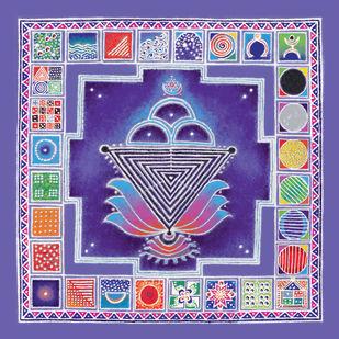 RP007 Shiv-shakti Digital Print by Dr. Bharati Mate,Traditional