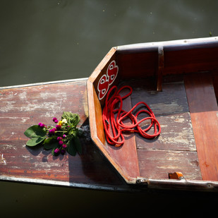 Th Floating Market by Gautam Vir Prashad, Image Photography, Giclee Print on Hahnemuhle Paper, Brown color