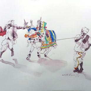 Perfoemance. Digital Print by Sreenivasa Ram Makineedi,Impressionism