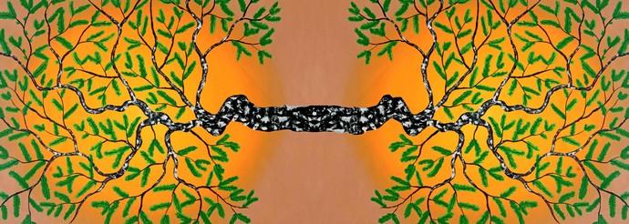 Sukshma by Sumit Mehndiratta, Impressionism Digital Art, Digital Print on Canvas,