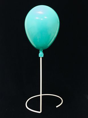 Turquoise balloon with stand by Vernika , Art Deco Sculpture | 3D, Fiber Glass, Black color