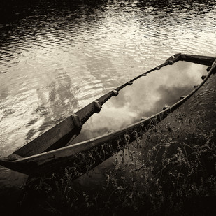 The Unsinkable Boat by Gautam Vir Prashad, Image Photography, Giclee Print on Hahnemuhle Paper, Black color
