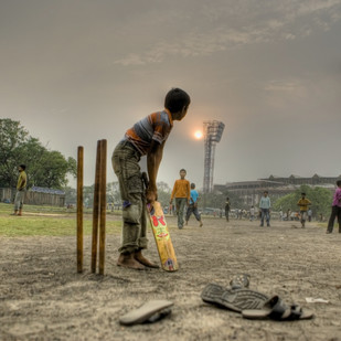 In the Shadows of Eden Gardens by Gautam Vir Prashad, Image Photography, Giclee Print on Hahnemuhle Paper, Brown color