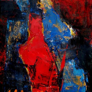 RED Digital Print by Aditya Dev,Abstract