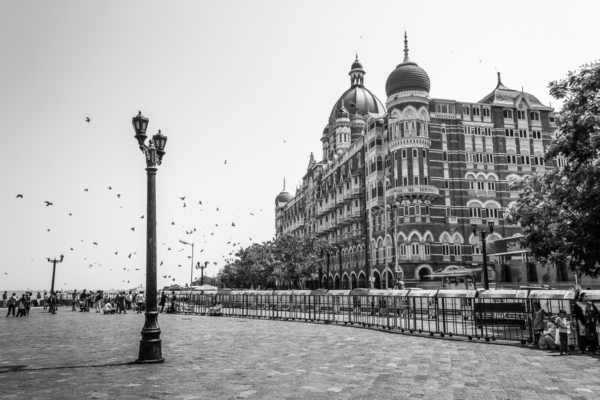 Hotel Taj by Kiran Bhote, Digital Photography, Digital Print on Paper, Gray color