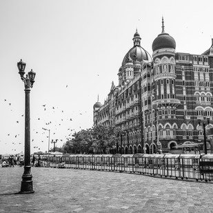 Hotel Taj by Kiran Bhote, Digital Photography, Digital Print on Paper, Gray color