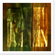 untitled by Ramesh Kher, Abstract Painting, Mixed Media on Canvas, Green color