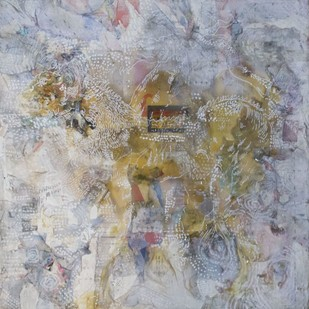 Chimera Series - 1 by Viraag Desai, Abstract Painting, Mixed Media on Canvas, Gray color