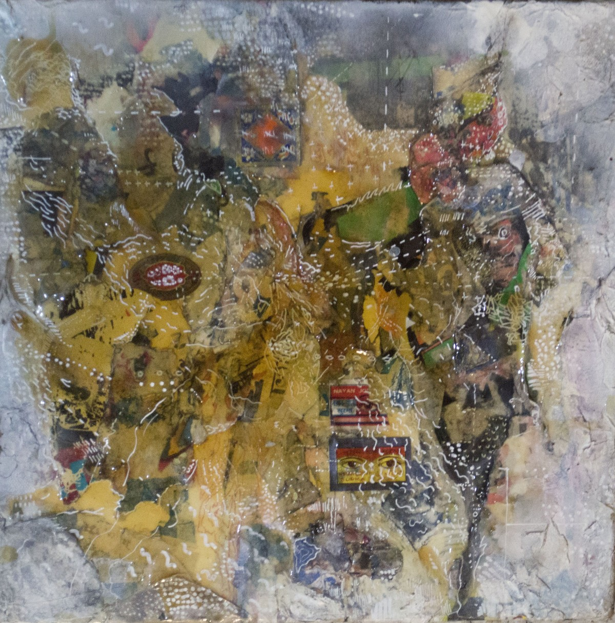 Chimera Series - 3 by Viraag Desai, Abstract Painting, Mixed Media on Canvas, Brown color