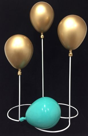 Balloons(2) by Vernika , Art Deco Sculpture | 3D, Fiber Glass, Gray color