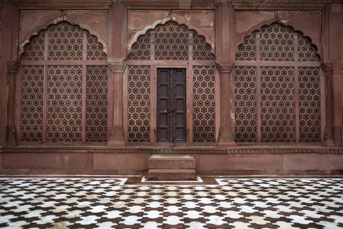 Red Wall Agra by Gautam Vir Prashad, Image Photography, Giclee Print on Hahnemuhle Paper, Brown color