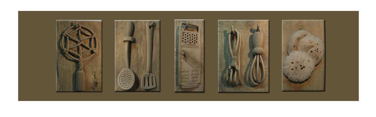 THE LOST LANES Set of 6 by Arjun das, Art Deco Sculpture | 3D, Wood, Brown color