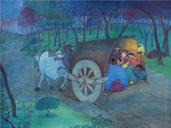 untitled by Chitra Arya, Impressionism Painting, Watercolor on Paper, Green color