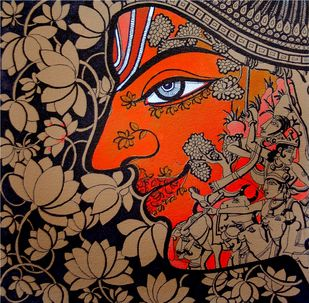untitled by Shishir Bhatt, Traditional Painting, Acrylic on Canvas, Brown color