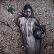 Subrata sen  enchantress  oil on canvas  40x48 inches  mcp5131 200000 2016