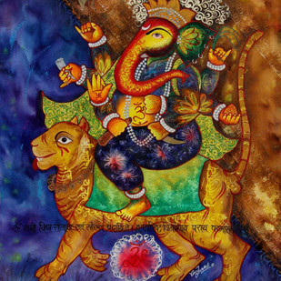 untitled by Vinay Trivedi, Expressionism Painting, Mixed Media on Canvas, Brown color