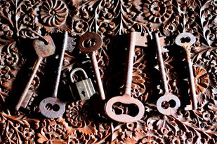 Alibaba's Keys by Shafi, Image Photography, Digital Print on Paper, Brown color