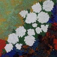 White roses  16 x 20 inch                      acrylic