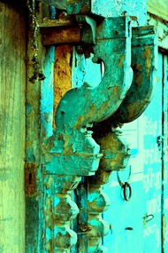 Awaiting Demolition by Shafi, Image Photography, Digital Print on Paper, Green color