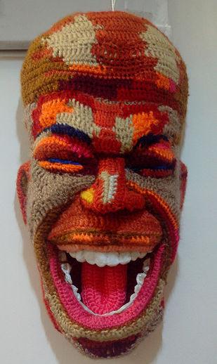 Face 18 by Archana Rajguru, Art Deco Sculpture   3D, Mixed Media, Brown color