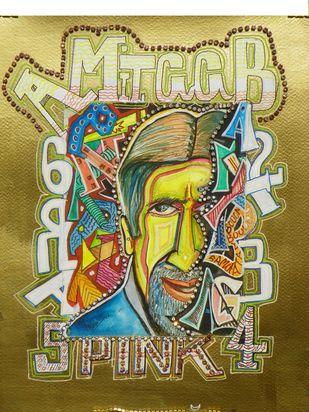 graffiti amitab Digital Print by Izhar Alam,Pop Art