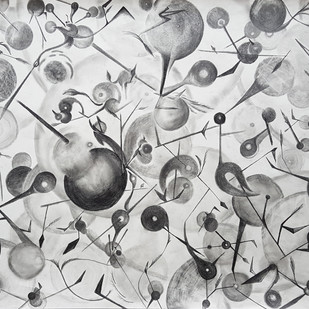 Life by Orah, Conceptual Drawing, Graphite on Paper, Gray color
