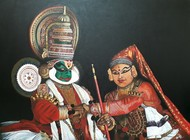 Divine Marriage by Niveda Pradeep, Realism Painting, Acrylic on Board, Brown color