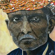 Expressive Wrinkles by Niveda Pradeep, Expressionism Painting, Watercolor on Paper, Brown color
