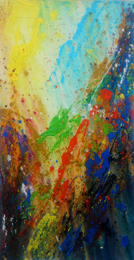 Manifesto of Nature by Anshu, Abstract Painting, Acrylic on Canvas, Brown color