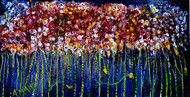 ROSAL FANTASY by Anand Swaroop, Expressionism Painting, Oil on Canvas, Blue color