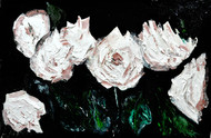ROSES by Anand Swaroop, Expressionism Painting, Oil on Canvas, Gray color