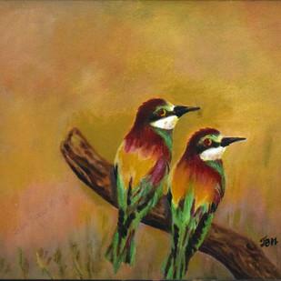 Love Birds Digital Print by John Bosco Mary,Impressionism