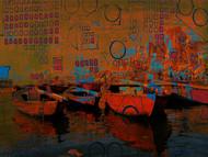 Banaras by Anand M Bekwad, Digital Digital Art, Digital Print on Canvas, Brown color