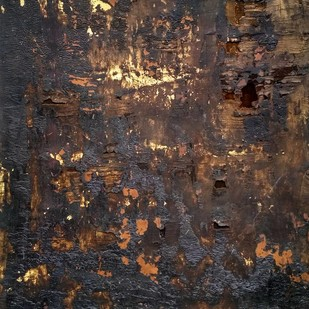 Caoutchouc II by Abhishek Kumar, Abstract Painting, Mixed Media, Brown color
