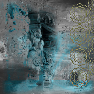 Madurai by Anand M Bekwad, Expressionism Digital Art, Digital Print on Canvas, Green color
