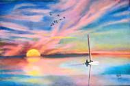 Dawn or Dusk Digital Print by John Bosco Mary,Impressionism