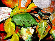 LEAVES LEAVES AND LEAVES-2 by Anand Swaroop, Expressionism Painting, Mixed Media on Canvas, Green color