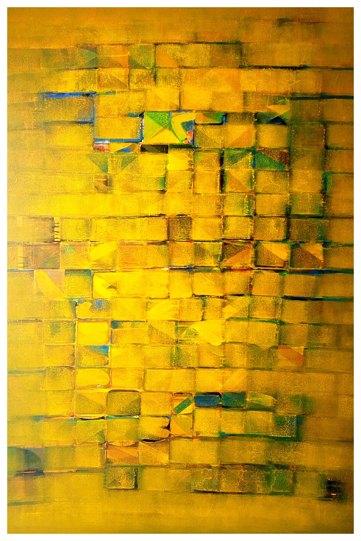 Untitled by Nivas Kanhere, Abstract Painting, Acrylic on Canvas, Orange color