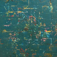 Untitled by Nivas Kanhere, Abstract Painting, Oil on Canvas, Green color