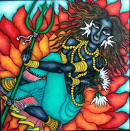 Devi by Vallery Puri, Expressionism Painting, Oil on Canvas,