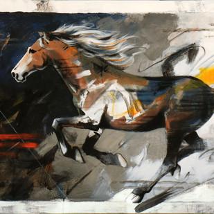 HORSE SERIES-109 Digital Print by Devidas Dharmadhikari,Expressionism