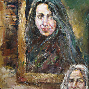 HEROIN by ANEETA, Expressionism Painting, Oil on Canvas, Brown color
