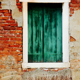 Window 2 by Sayali, Image Photography, Digital Print on Canvas, Brown color