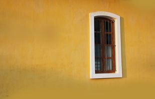 Window 4 by Sayali, Image Photography, Digital Print on Canvas, Brown color