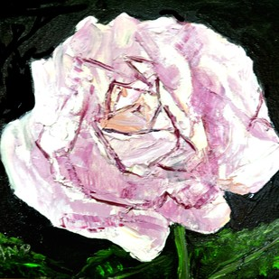 FLOWER STUDY-5 by Anand Swaroop, Expressionism Painting, Oil on Canvas, Pink color